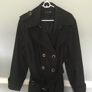 Calvin Klein Black Trench Coat
